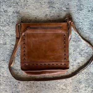 Lucky Brand Genuine Leather Satchel!